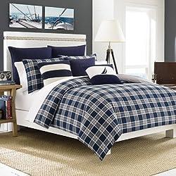 Nautica Eddington Comforter Set, Full/Queen, Navy