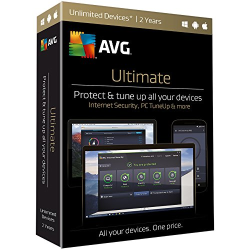 AVG  Ultimate, Unlimited Devices, 2 Years (Avg Antivirus Software compare prices)