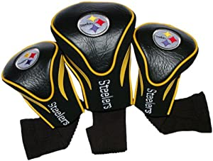 NFL Pittsburgh Steelers 3 Pack Contour Fit Headcover by Team Golf