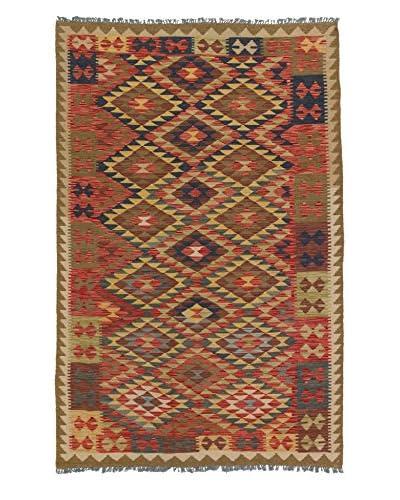 eCarpet Gallery One-of-a-Kind Kashkoli Kilim Rug, Navy/Red, 5' 2 x 7' 10