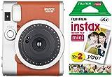 Fujifilm Instax Mini 90 Instant Camera with 20 Shots of Film - Brown