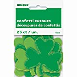 Paper Saint Patrick s Day Shamrock Confetti Cut Outs, 25ct