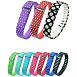 Set 10 Colors Replacement Bands for Fitbit FLEX Only With Clasps /No tracker/