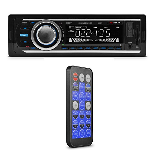 Car Stereo, XO Vision Wireless Bluetooth Car Stereo Receiver with 20 watts x 4, USB Port , SD Card Slot, and MP3 and FM [ XD107 ] (Car Radio Usb compare prices)