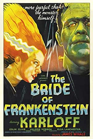 The Bride of Frankenstein Movie Poster (27 x 40 Inches - 69cm x 102cm) (1935) Style C -(Boris Karloff)(Elsa Lanchester)(Ernest Thesiger)(Colin Clive)(Una O'Connor)(Valerie Hobson)