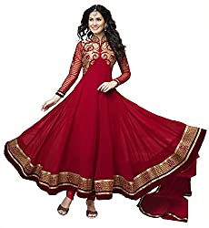Neets Fashion Red Georgette Designer Semistitched Anarkali Salwar Suit