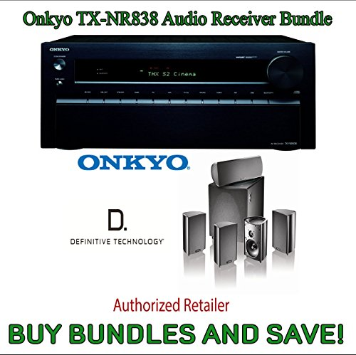 Onkyo Tx-Nr838 7.2-Channel Network A/V Receiver Plus Definitive Technology Procinema 600 5.1 Speaker System (Set Of Six, Black)