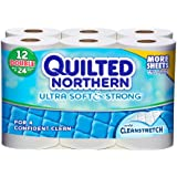 Quilted Northern Ultra Soft & Strong Double Roll Bath Tissue, 12 Count
