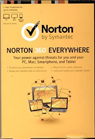 Norton 360 Everywhere 5 Devices 1 Year Protection