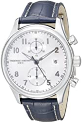 Frederique Constant Men's FC393RM5B6 Run About Stainless Steel Watch with Blue Leather Band