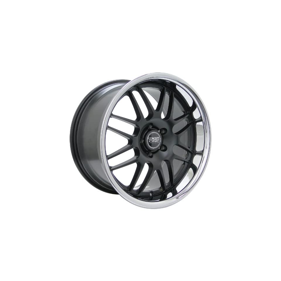Concept One RS 8 (Series 701) Matte Black with Chrome Lip   19 x 9.5 Inch Wheel