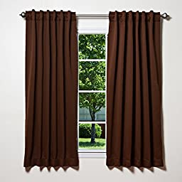 Best Home Fashion Thermal Insulated Blackout Curtains - Back Tab/ Rod Pocket - Chocolate - 52\