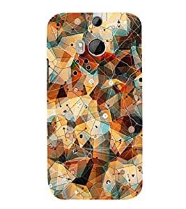 GADGET LOOKS PRINTED BACK COVER FOR HTC ONE M8 MULTICOLOR