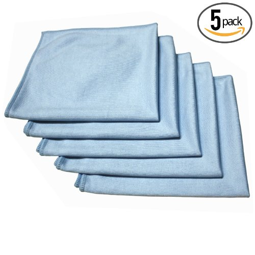 "Detail Master Pro 16"" X 16"" Premium Window & Glass Professional Korean 70/30 Microfiber Detailing Towels (Pack Of 5) - The Rag Company"