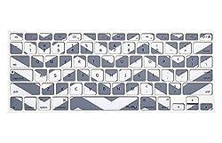 Kuzy Chevron Silicone Keyboard Cover for 13 15 17 Inch Macbook Pro (Grey)