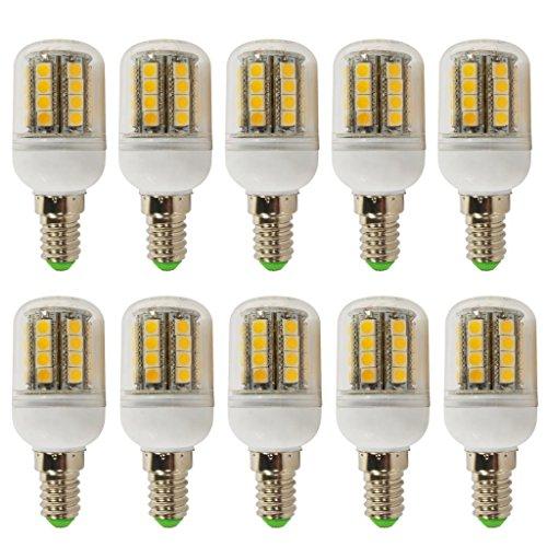 10Pcs 4W E14 Led Light 5050 Smd Ultra Bright Lamp Bulb Warm White 200-260V
