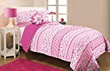 DITSY BLOOM MF75P02MINIWDEC Kids Collection Ditsy Bloom Microfiber Comforter Set with Decorative Pillow
