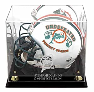 Miami Dolphins Golden Classic 1972 Commemorative Logo Helmet Case with Mirror Ba by Mounted Memories