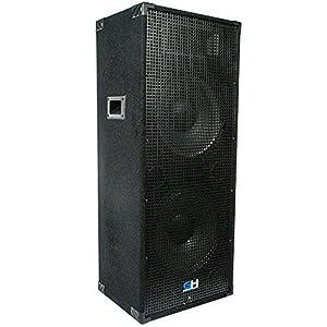 2400w Pair of Dual 15 Inch Passive Full Range PA Speakers Home DJ Karaoke Church Portable Indoor Outdoor Pro Audio Live Sound Reinforcement ...