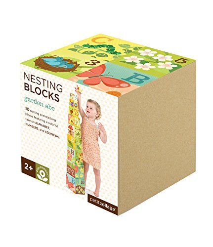Petit Collage Nesting Blocks, Garden ABC