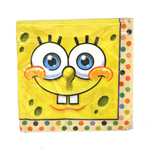 Spongebob Beverage Napkins - 16 Ct Unique - 1