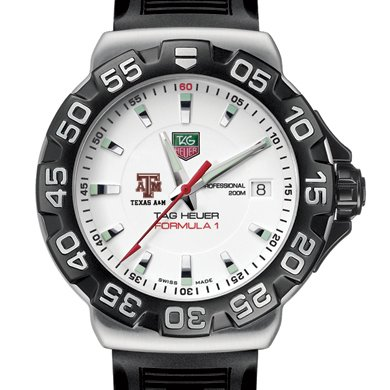 Texas A&M University TAG Heuer Watch - Men's Formula 1 Watch with Rubber Strap