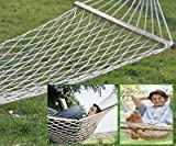 "69""x29""comfortable White Cotton Rope Swing Hammock Hanging on the Porch / Branch"