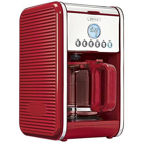 BELLA LINEA Collection 12 Cup Programmable Coffee Maker, Color Red 14108 Home Garden Kitchen ...
