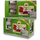 (2 Packs) Ball Mason Wide Mouth Half Pint Jars - 8oz - 4 Jars Per Box - Total 8 Jars
