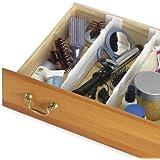 Whitmor 6025-3927 Adjustable Drawer Dividers, White, Set of 2