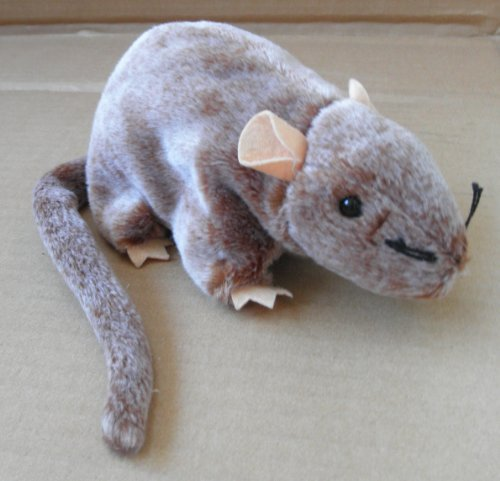 TY Beanie Babies Tiptoe the Mouse Stuffed Animal Plush Toy - 7 inches long