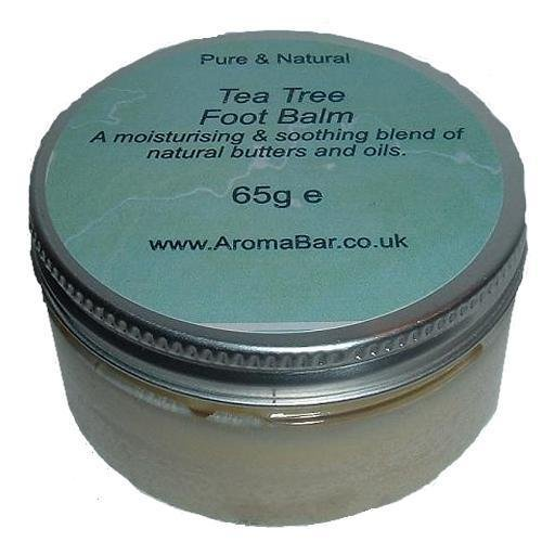 Tea Tree Natural Hand & Foot Balm with Shea, Cocoa Butter & Beeswax (65g)
