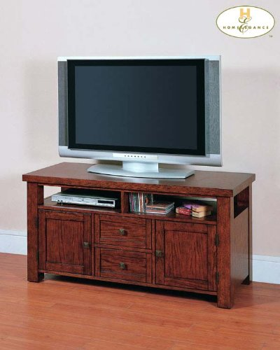 Cheap Breezewood TV Stand in Burnished Oak Finish (B004RSVQK4)