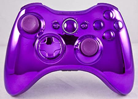 Chrome Purple Xbox 360 Modded Controller (Rapid Fire) COD MW3, Black Ops 2, MW2, MOD GAMEPAD