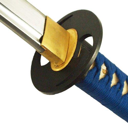DerShogun Katana-Samuraischwert, 1045 Kohlenstoffstahl, blau