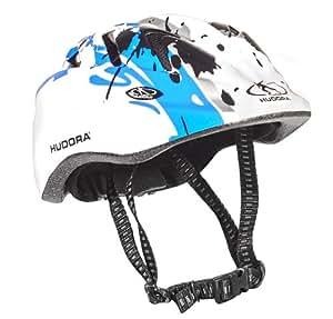 Hudora casque de vélo pour enfant Boy Multicolore Blanc-bleu 48-52 cm