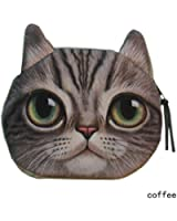 Cat Head Design Coin Purse, Womens Fashion Smell Change Bag