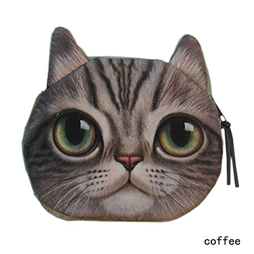 Cat Head Design Coin Purse, Womens Fashion Smell