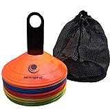 NEWSPIRAL マーカーコーン カラーコーン 割れにくい サッカー フットサル 陸上 用品 5色 10 - 50 枚 セット
