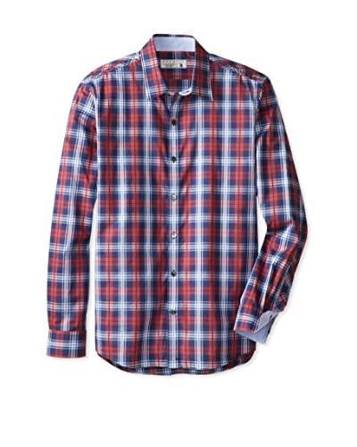 7 Diamonds Men's The Good Earth Plaid Long Sleeve Shirt