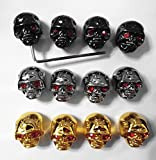 Kmise pure0035 12Skull Head Knob Volume Tone pot Control Knob For Gibson LP Guitar with wrench