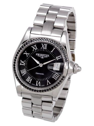 Swisstek Men's SK12602G Auto-Tek Swiss-Automatic Black Watch