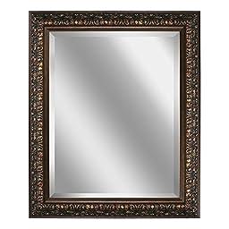 Deco Mirror 28.5 in. x 34.5 in. Ornate Mirror in Bronze