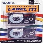 AV Care-Casio 2/Pack 9mm Black on White Label Tape