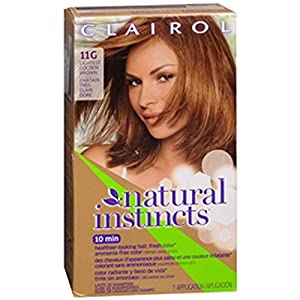 Amazoncom  Clairol Natural Instincts 011G Amber Shimmer Lightest Golden