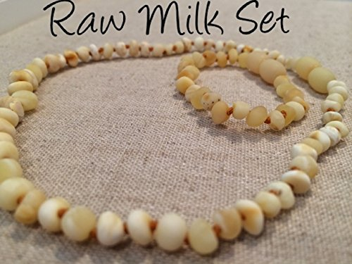 Baltic Amber Teething Necklace For Babies And Toddlers Raw Milk Set front-854494