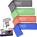 ACF 4 Exercise Bands - Resistance Loop Bands for Fitness and Stretching Workouts