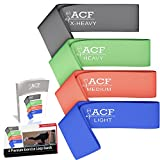 Top Rated Resistance Loop Bands - Premium Set of 4 or Individual Resistance Exercise Bands - Perfect for P90x, Insanity, Asylum, Crossfit Training, Yoga, Pilates, Beachbody, Physical Therapy, Strengthening, Upper Body, Brazil Butt Lift or Any Other Workout Out There - Effective Exercise Bands for Ankles, Legs, Shoulders, Arms and Core Exercises - Great Workout for Men or Women - Light, Medium, Heavy and Extra Heavy Resistance Levels Perfect for Any Home Gym - Best Resistance Bands on the Market - 100% Lifetime Guarantee **By Amazing Core Fitness