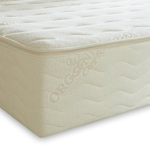 "PlushBeds 9"" Medium Botanical Bliss Latex Mattress - Queen"