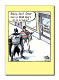 Batman Help Wanted Funny Happy Birthday Greeting Card